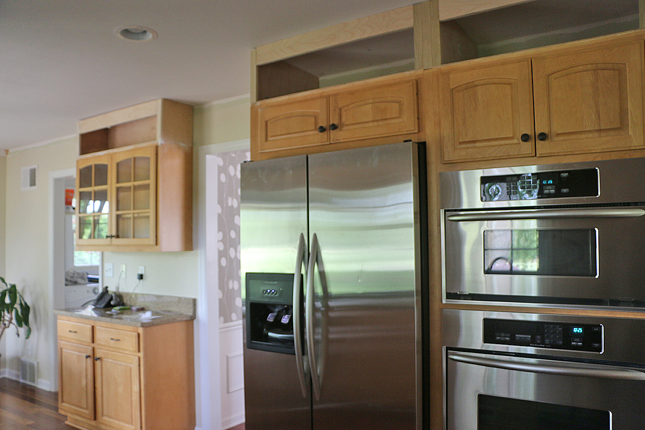 Should Kitchen Cabinets Go Up To Ceiling My Kitchen Refresh Extending My Cabinets To The Ceiling Freshly