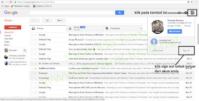 cara sign out keluar dari akun gmail