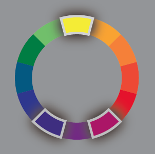 The informed illustrator color schemes defined - Split complementary colors examples ...