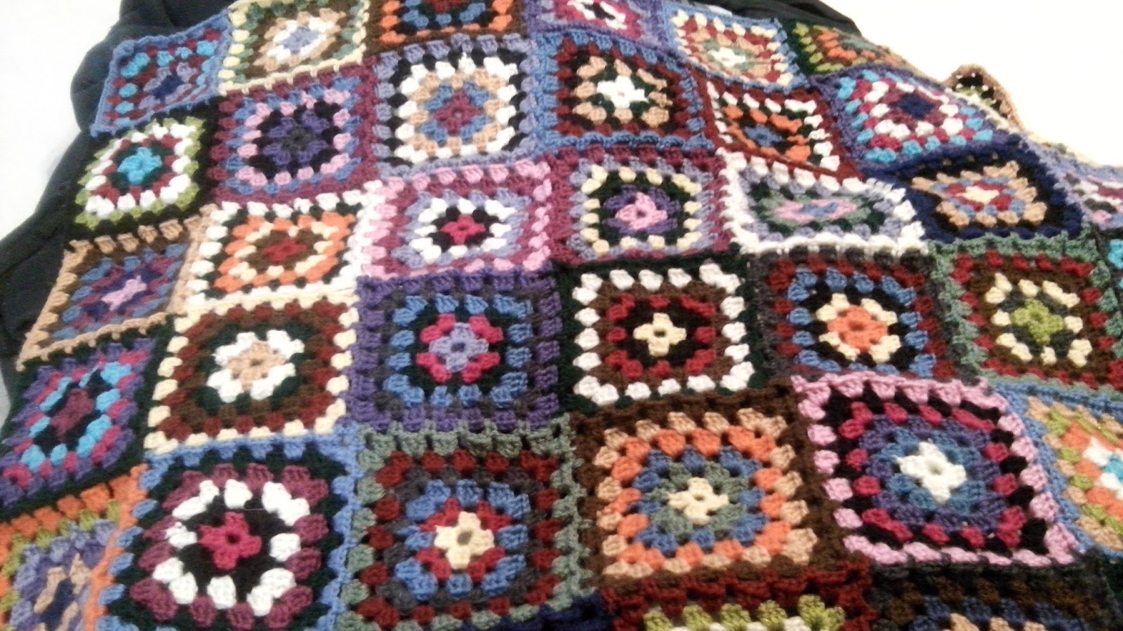 Verliebt In Wolle Granny Square Decke