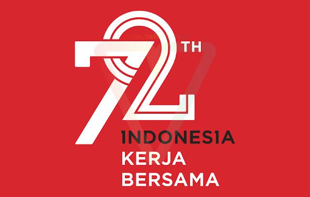 logo hut ri 72 kemerdekaan indonesia sekunder