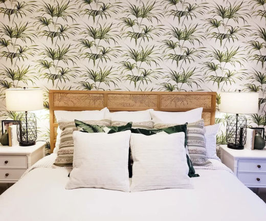 Tropical Wallpaper for Bedroom Accent Wall