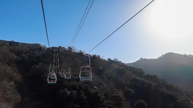 naik cableway ke tembok china