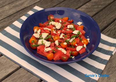 Carole's Chatter: Watermelon & Chevre Salad