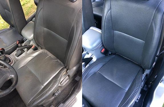 Pranie i czyszczenie tapicerki samochodowej - fotele skórzane