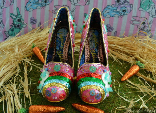 pink rainbow bunny shoes