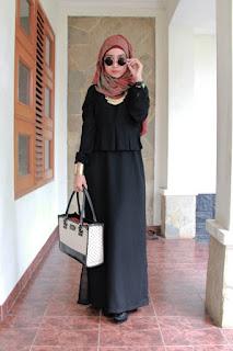 Model Busana Muslim Dress Hitam