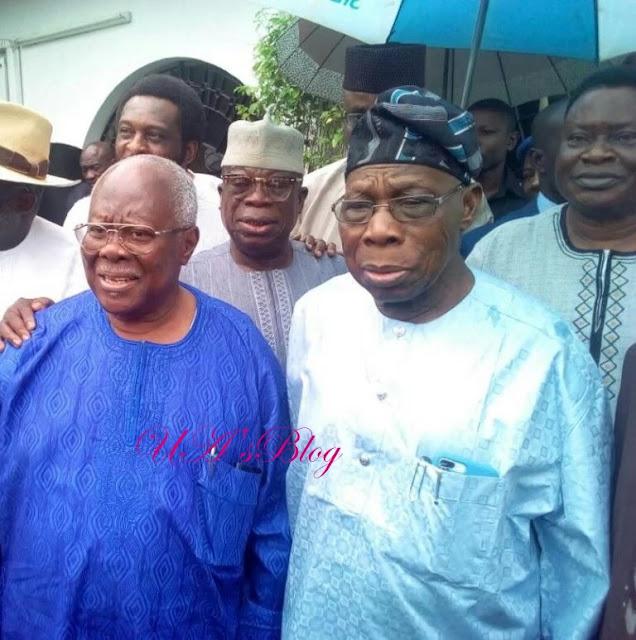 Obasanjo visits Bode George, settles political rift [PHOTO]