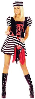 Women's Prisoner Of Love Adult Med for Halloween