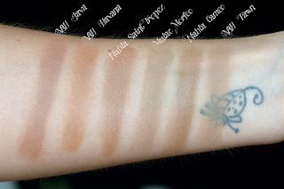 nabla shade & glow contour comparison bronzer