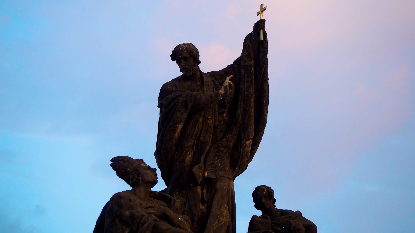 Statue of saints on Charles Bridge, Prague