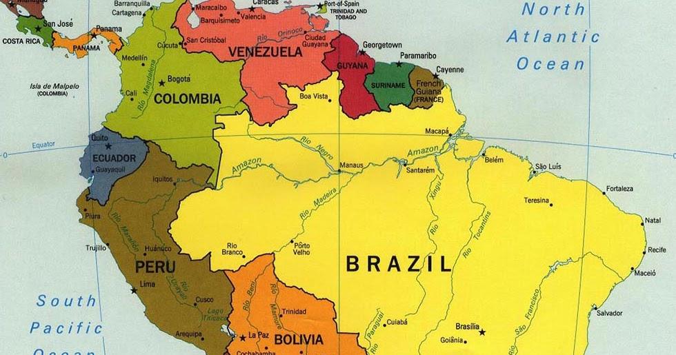 Cartina Geografica Dell America Del Sud.Ripasso Facile Riassunto Geografia America Del Sud