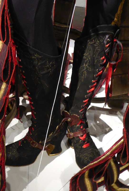 Red Queen costume boots Alice Looking Glass