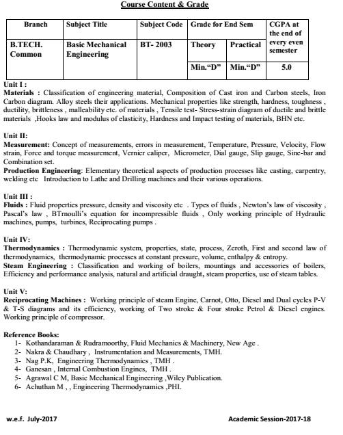RGPV BME Syllabus BT 203 BTech | New Scheme Based On AICTE