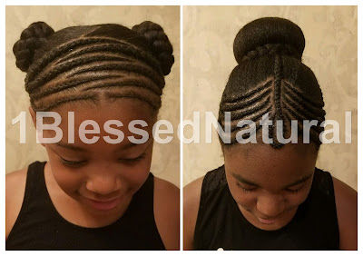 little girl natural hairstyles, cornrows, buns