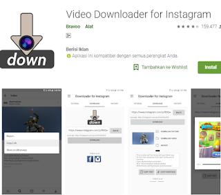 Cara menggunakan Video Downloader for Instagram di android