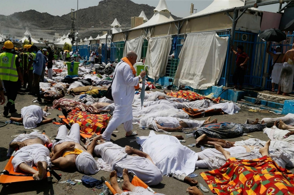 what caused mina stampede