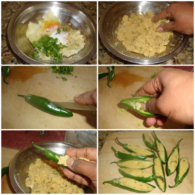 images of Rajasthani Mirchi Vada Recipe / Rajasthani Mirchi Bada / Jodhpuri Mirchi Vada Recipe