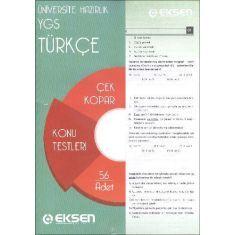 Eksen YGS Türkçe Çek Kopart Yaprak Test