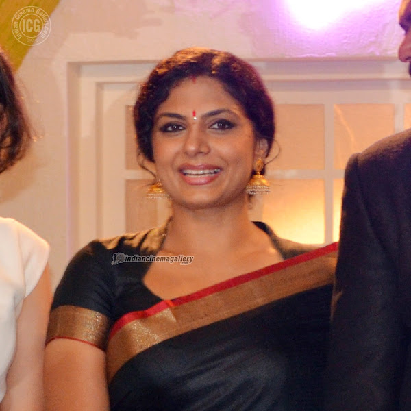 Asha Sarath at Jean Paul Lal wedding Reception