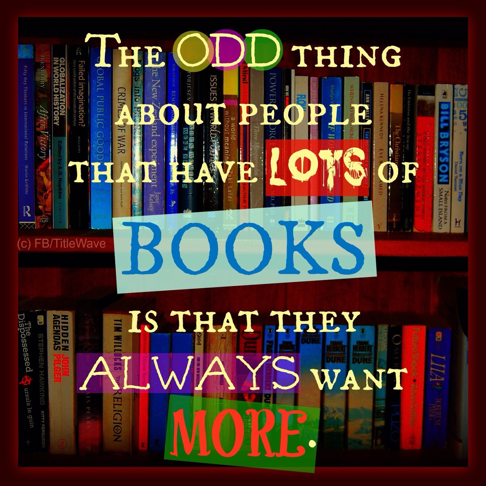 The Odd Thing About People That Have Lots Of Books