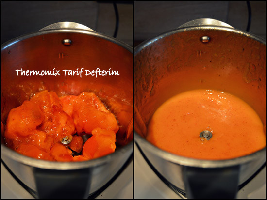Persimmon cubes for smoothies