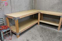 L-shaped Garage Workbench Plans