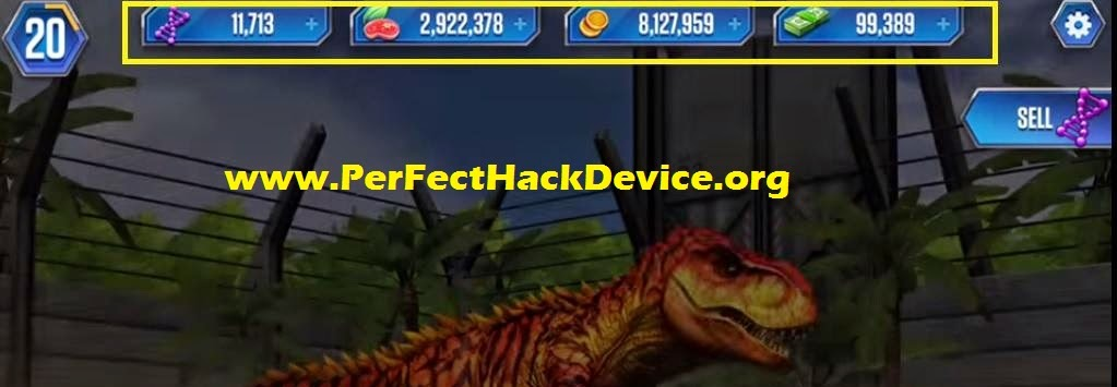jurassic world the game hack cheats unlimited coins food