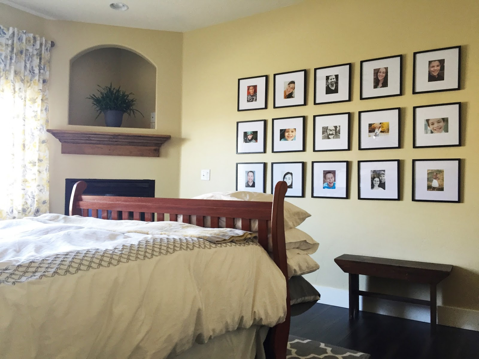 jen gallacher grey and yellow master bedroom remodel and update