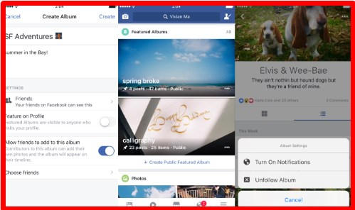 Facebook lets you add any post to albums