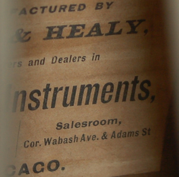 Lyon & Healy Drum Label, ca. 1880s