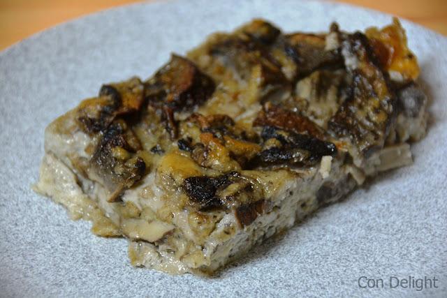 פשטידה עם פטריות פורטובלו Mushroom portobello pie