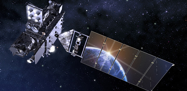 Artist's rendering of the GOES-16 satellite in orbit. Image Credit: NOAA