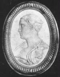 Francesca Caccini pictured in a  cameo discovered in Pistoia