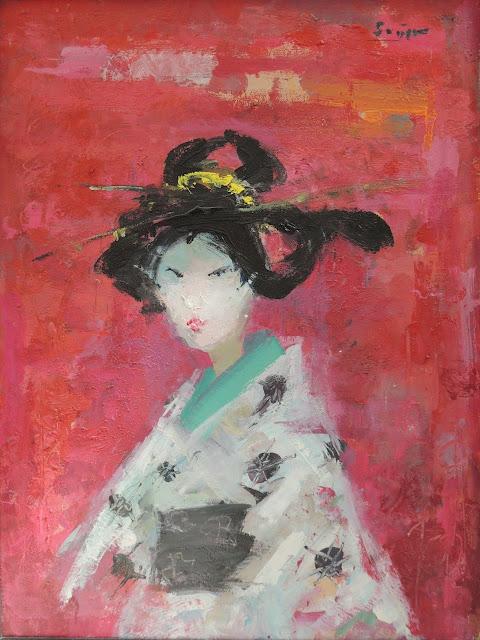 Francesc Suñer pintura expresionista óleo geisha