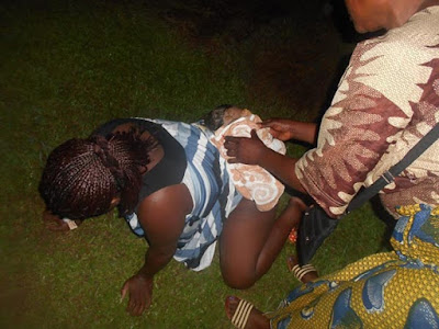 Photos: Woman Gives Birth In Open Field After Hospital Refused To Admit Her