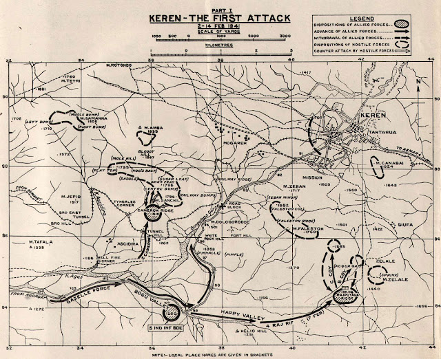 2 February 1941 worldwartwo.filminspector.com Keren Eritrea battle map