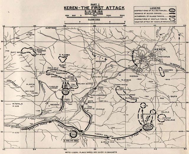 2 February 1941 worldwartwo.filminspector.com Keren Eritrea battle map