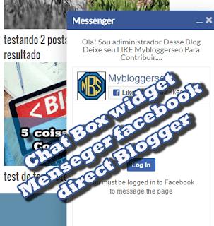 Widget enviar mensagem facebook menseger no Blogger