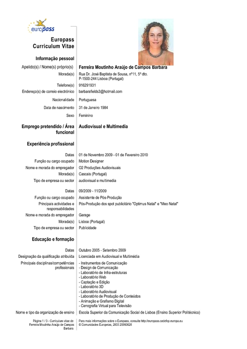 Curriculum Vitae Completo | Resume Pdf Download