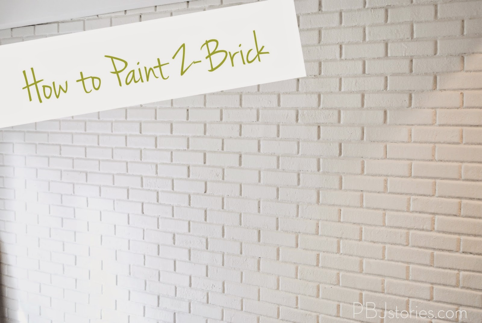 PBJstories: How to Paint an Interior Brick Wall