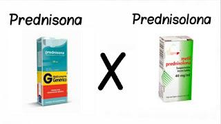 diferença farmacológica e terapêutica entre prednisona e prednisolona