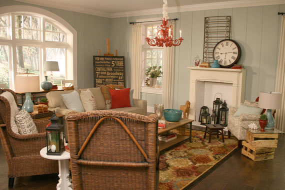 And Here Are The Afters Of The Beach Themed Living Room: