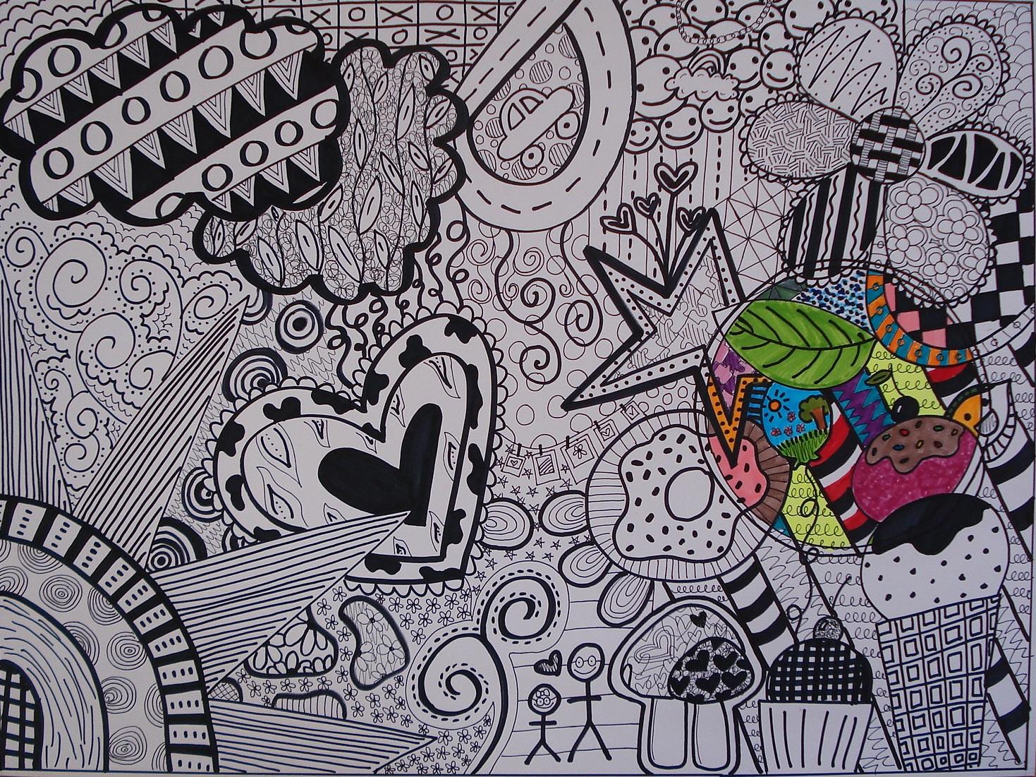 A Faithful Attempt Black Amp White Doodle Design