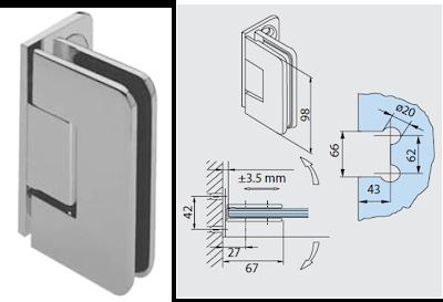 Tecnolog a y dise o herrajes y templados sistema 718 for Muro cristal