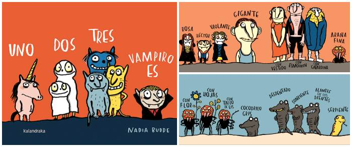 cuento infantil niños halloween Un, dos, tres, vampiro es Kalandraka