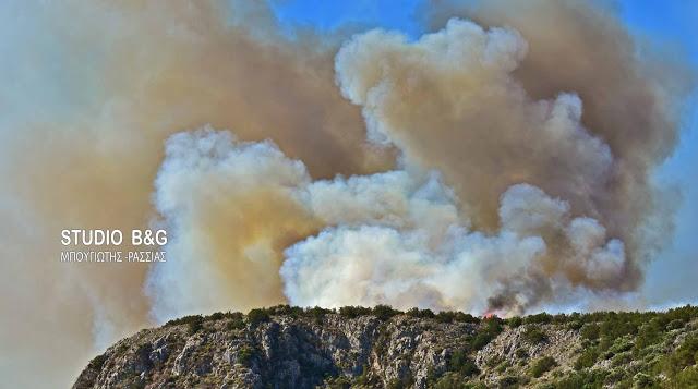 Εκκενώνεται χωριό στην Κέρκυρα λόγω μεγάλη πυρκαγιάς