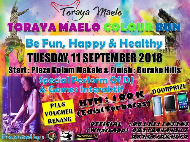 Siap-siap, Event Toraya Maelo Colour Run Segera Hadir di Awal September, Mau Ikutan?