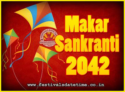 2042 Makar Sankranti Puja Date & Time, 2042 Makar Sankranti Calendar