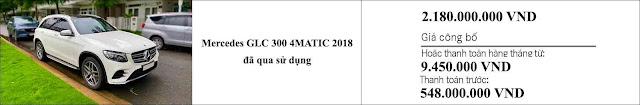 Giá xe Mercedes GLC 300 4MATIC 2018 hấp dẫn bất ngờ